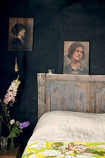 wooninspiratie zwarte slaapkamer